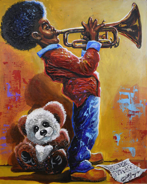 Wall Art - Painting - Little Child Prodigy by The Art of DionJa'Y