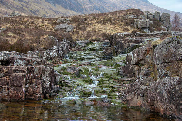 Wall Art - Photograph - Little Creek In Glen Coe Scotland by Bill Cannon