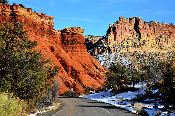 Photograph - Little Egypt Along Capitol Reef Scenic Drive by Ray Mathis