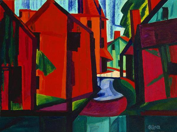 Wall Art - Painting - Little Falls, New Jersey - Digital Remastered Edition by Oscar Bluemner