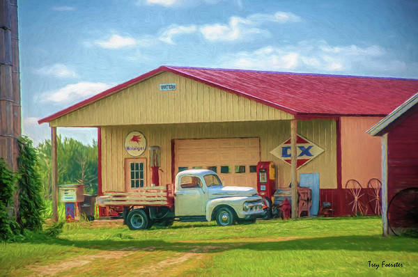 Wall Art - Digital Art - Little Falls Truck Garage by Trey Foerster