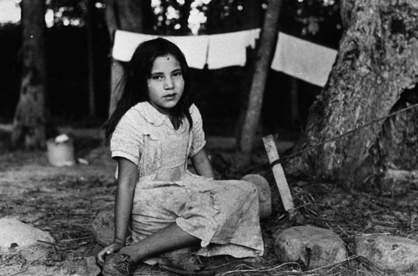 Reportage Photograph - Little Fork Girl by Russell Lee