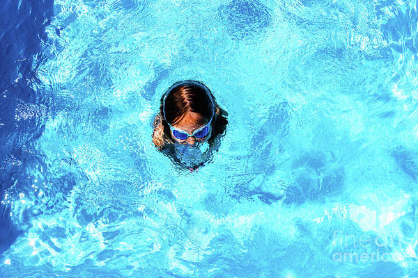 Photograph - Little Girl Enjoying The Good Weather By Bathing In Her Pool Pla by Joaquin Corbalan