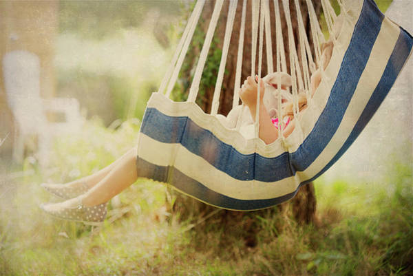 Photograph - Little Girl  In Swing. by Maggie McCall
