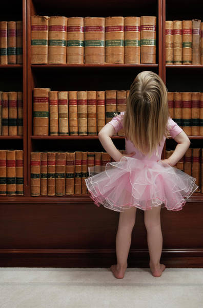 Reading Photograph - Little Girl In Tutu Reading Book Covers by Compassionate Eye Foundation/barry Calhoun