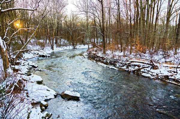 Kingsville Photograph - Little Gunpowder Falls Pano With Snow by Brian Wallace