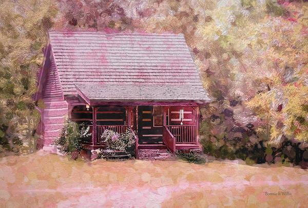 Digital Art - Little House By The Woods by Bonnie Willis
