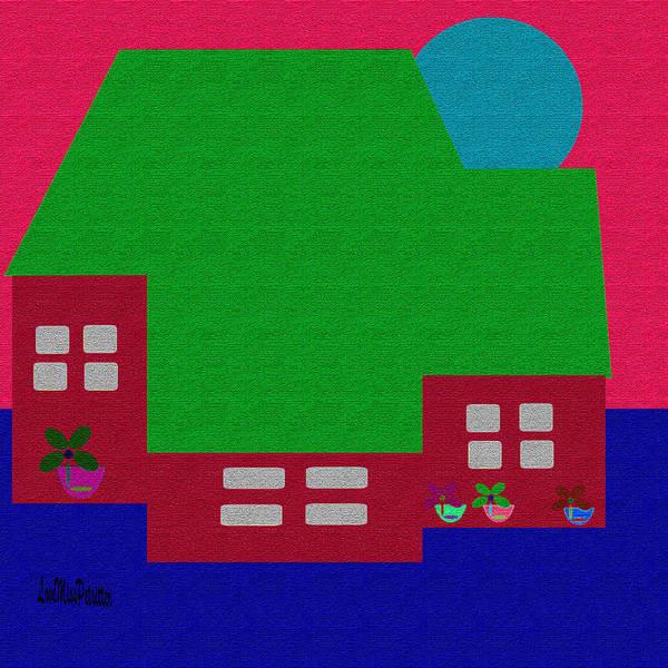 Digital Art - Little House Painting 10 by Miss Pet Sitter