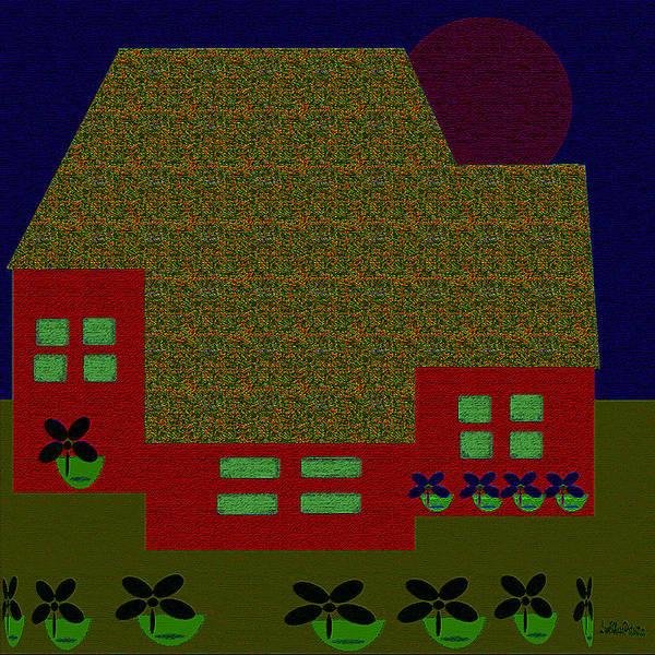 Digital Art - Little House Painting 3 by Miss Pet Sitter