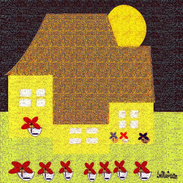 Digital Art - Little House Painting 5 by Miss Pet Sitter