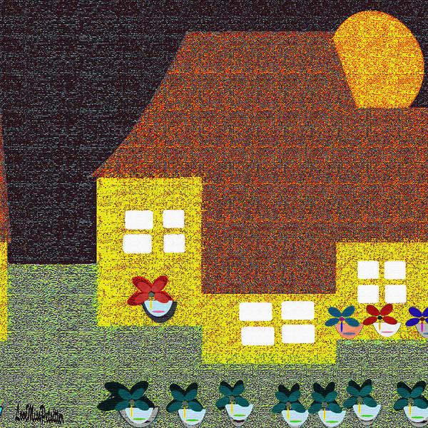 Digital Art - Little House Painting 7 by Miss Pet Sitter