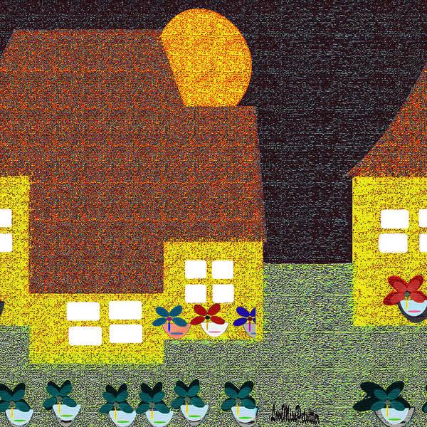 Digital Art - Little House Painting 8 by Miss Pet Sitter