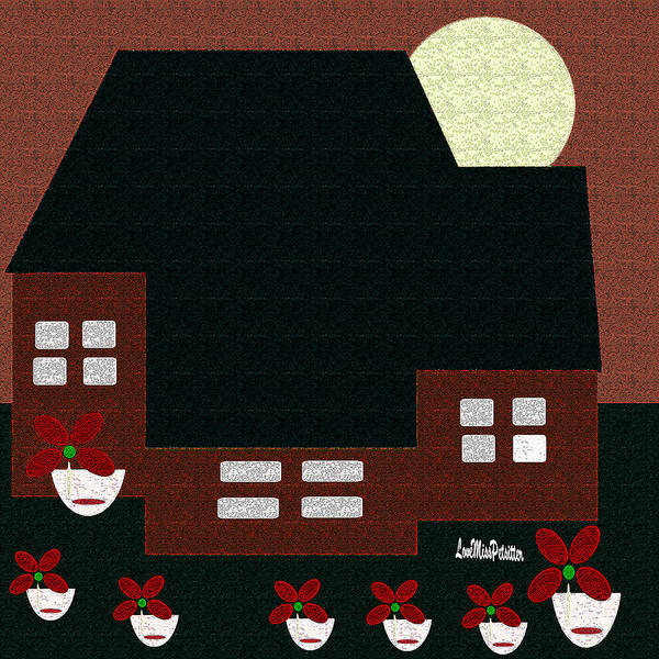 Digital Art - Little House Painting 9 by Miss Pet Sitter