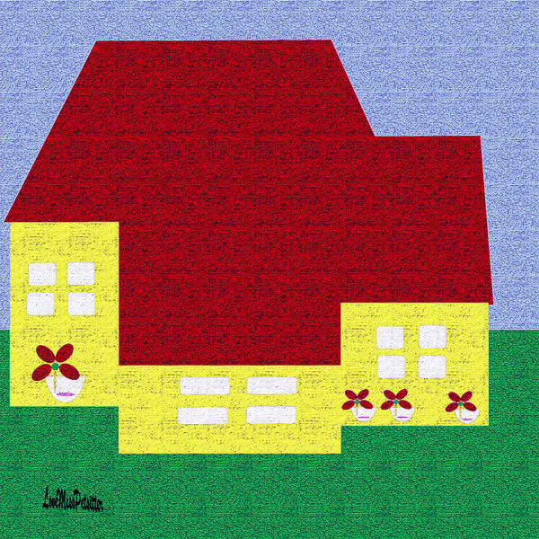 Wall Art - Digital Art - Little House Painting by Miss Pet Sitter