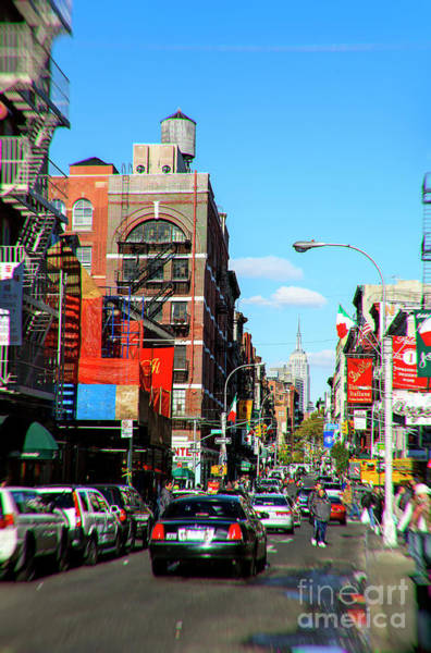 Little Italy Photograph - Little Italy Walking New York City by John Rizzuto
