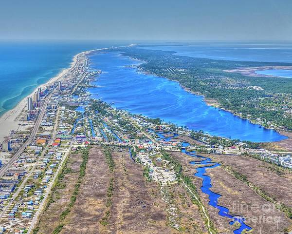 Photograph - Little Lagoon 7489 by Gulf Coast Aerials -
