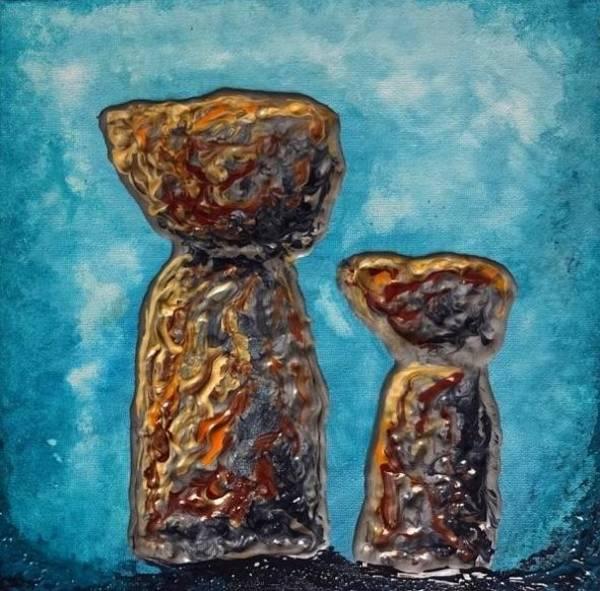Painting - Little Latte Stones by Michelle Pier