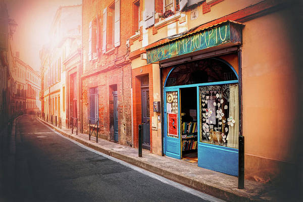 Storefront Photograph - Little Music Shop Toulouse France  by Carol Japp