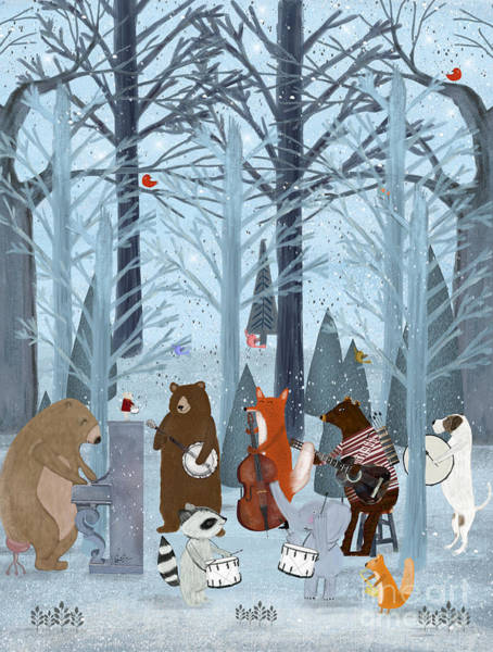 Wall Art - Painting - Little Nature Symphony by Bri Buckley