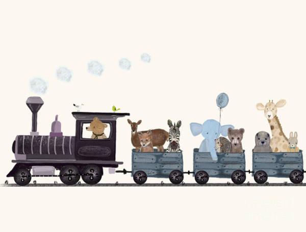 Little Nature Train Art Print by Bri Buckley