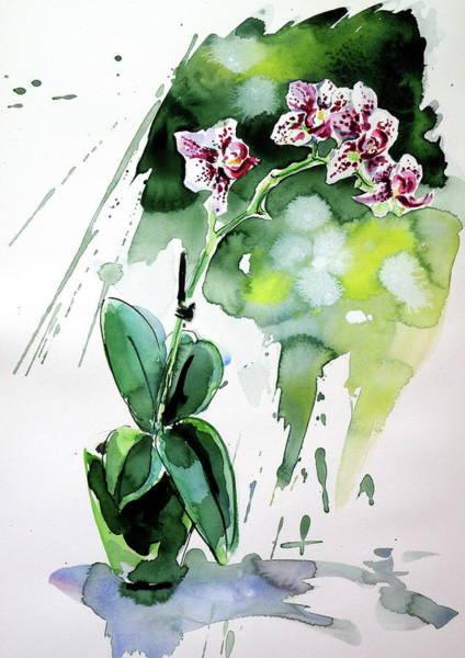 Wall Art - Painting - Little Orchidea by Kovacs Anna Brigitta