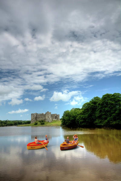 Photograph - Little People At Carew Castle 1 by Steve Purnell