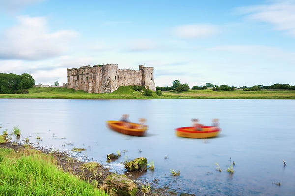 Photograph - Little People At Carew Castle 2 by Steve Purnell
