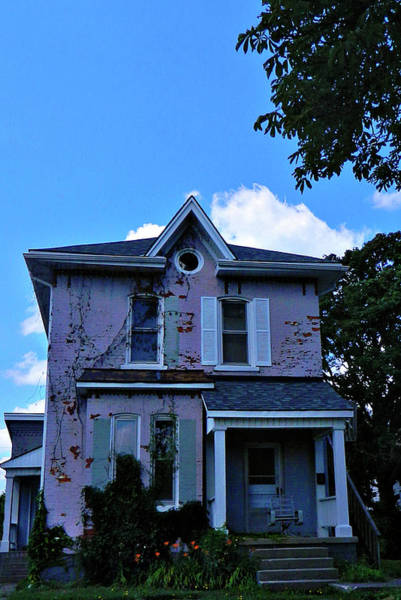 Photograph - Little Pink Abandoned House by Cyryn Fyrcyd