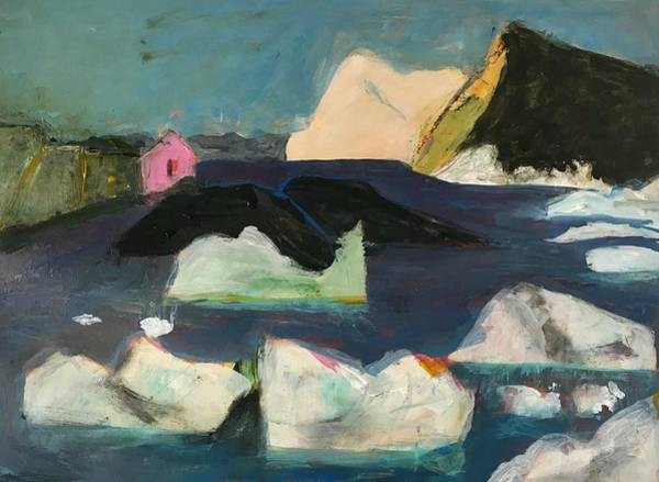 Wall Art - Painting - Little Pink House On Greenland 2 by Gerrit Oppelland-Hampel