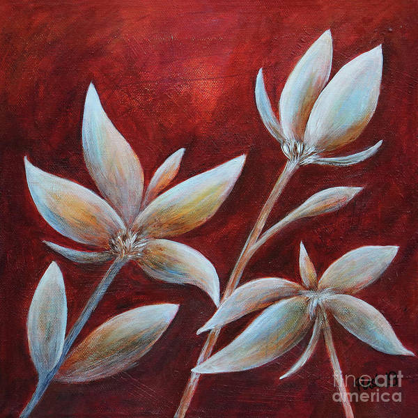 Painting - Little Plants by Jutta Maria Pusl