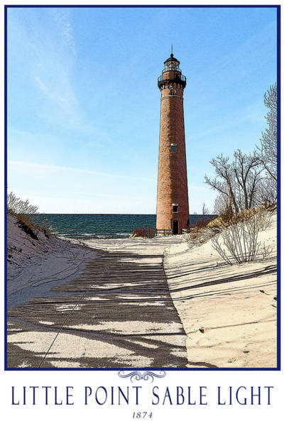 Photograph - Little Point Sable Light Poster by Fran Riley