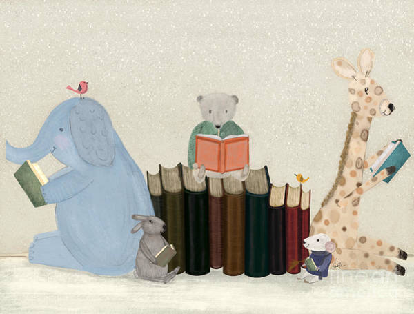 Wall Art - Painting - Little Readers by Bri Buckley