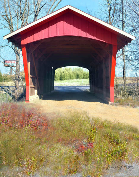 Photograph - Little Red Covered Bridge by Bonnie Willis