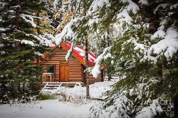 Wall Art - Photograph - Little Red Riding Hood Cabin by Inge Johnsson