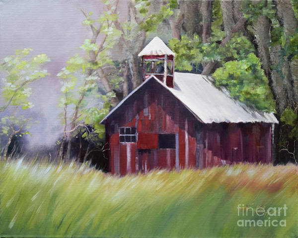 Painting - Little Red Schoolhouse - Lyndhurst Plantation - Florida by Jan Dappen