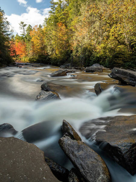 Photograph - Little River Below Triple Falls by Donnie Whitaker