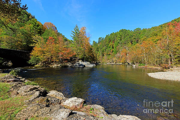 Wall Art - Photograph - Little River From Little River Gorge Road At Townsend Entrance by Louise Heusinkveld