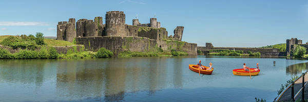 Photograph - Little Rowers At Caerphilly Castle 1 by Steve Purnell
