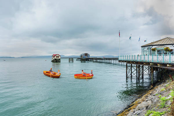 Photograph - Little Rowers At Mumbles Pier by Steve Purnell