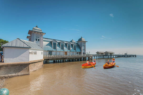 Photograph - Little Rowers At Penarth Pier by Steve Purnell