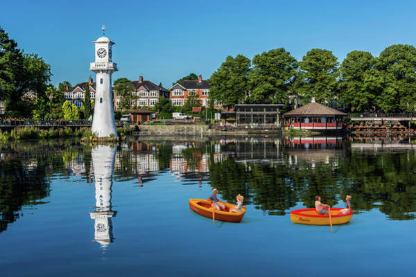 Photograph - Little Rowers At Roath Park by Steve Purnell