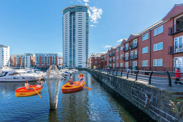 Photograph - Little Rowers At Swansea Marina by Steve Purnell