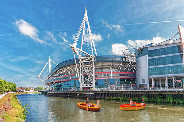 Photograph - Little Rowers At The Millennium Stadium by Steve Purnell