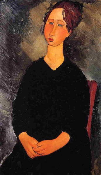 Wall Art - Painting - Little Serving Woman - 1919 - Minneapolis Institute Of Arts - Painting - Oil On Canvas by Modigliani Amedeo