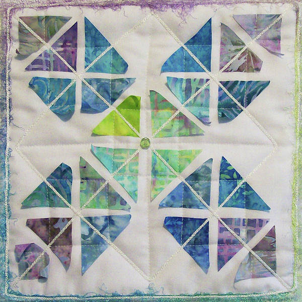 Tapestry - Textile - Little Sister's Kite Tails by Pam Geisel