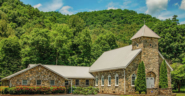 Wall Art - Photograph - Little Stone Church In The Mountains by Marcy Wielfaert