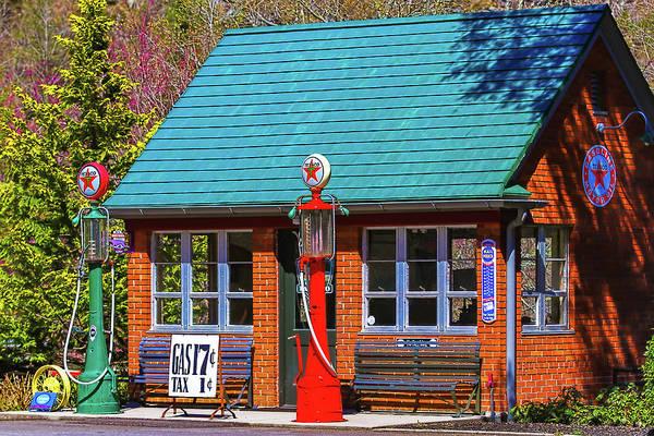 Wall Art - Photograph - Little Texaco Station by Lisa Bell