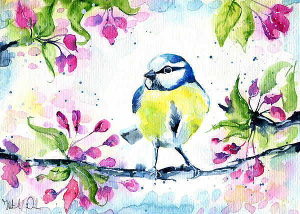 Painting - Little Tit by Dora Hathazi Mendes