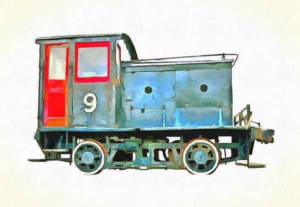 Wall Art - Digital Art - Little Train That Could Pop Art by Edward Fielding