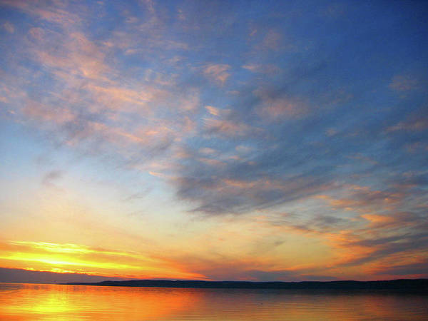 Photograph - Little Traverse Bay Sunset by Rein Nomm